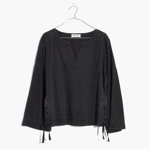 Madewell Denim Side Lace Swingy Top